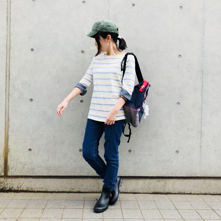 袖口裏シャンブレー七分袖<br /> ¥1404
