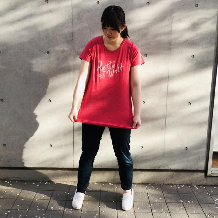 ロングプリントTシャツ<br /> ¥1296