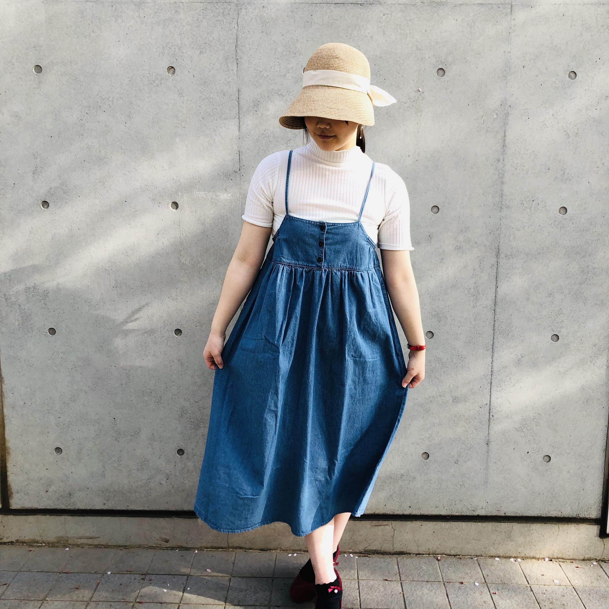 デニムサロペットスカート<br /> ¥3456