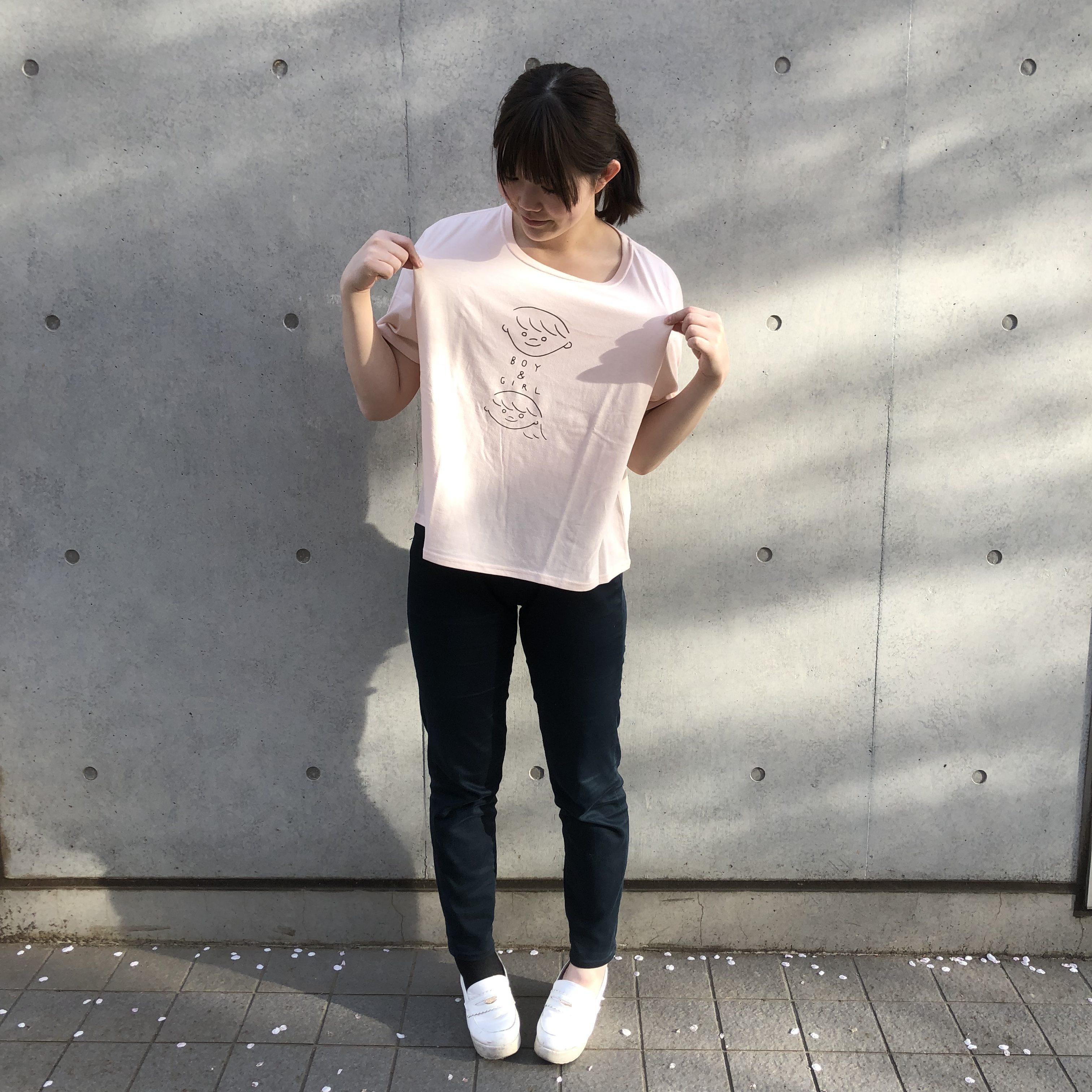 ゆったりプリントTシャツ<br /> ¥1296