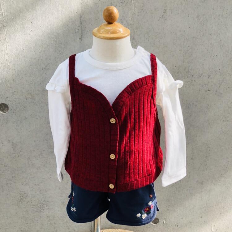 ニットキャミ着てる風Tシャツ<br /> ¥2052