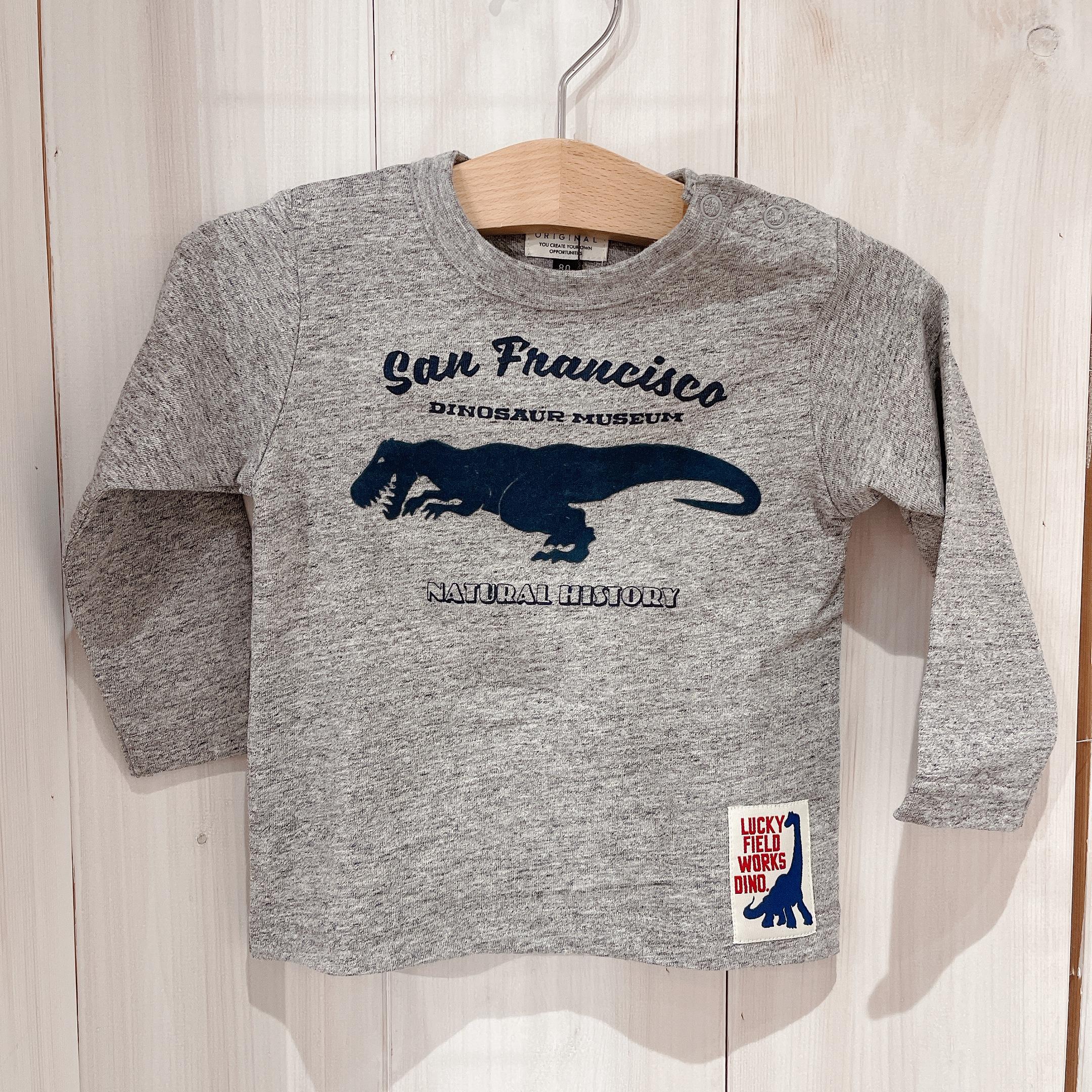 恐竜長袖Tシャツ<br /> ¥1980